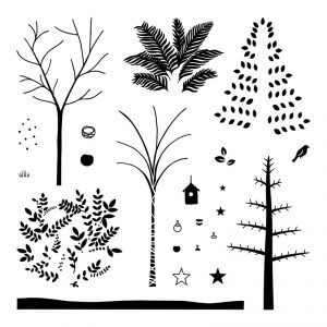 Seasonal Trees November Stamp of the Month