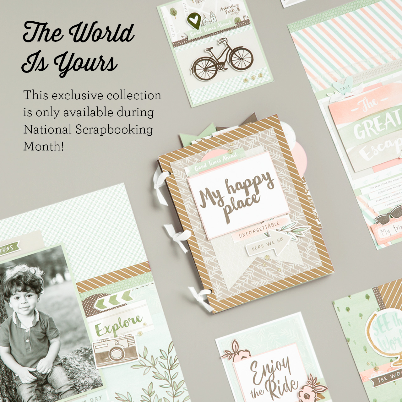 CTMH The World Is Yours National Scrapbooking Month Special