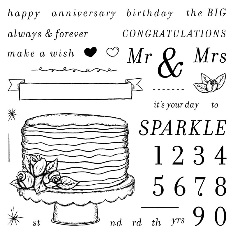 CTMH It's Your Day To Sparkle Stamp Set