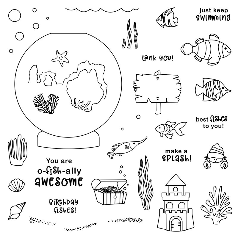 CTMH April O-fish-ally Awesome Stamp of the Month