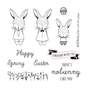 February CTMH Stamp of the Month Easter Bunny