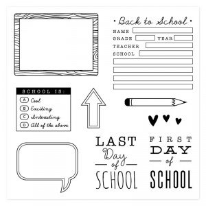 CTMH August Stamp of the Month School Year
