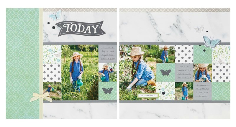 Chelsea Gardens Scrapbook Layout 1