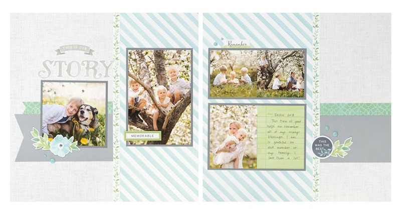 Chelsea Gardens Scrapbook Layout 2