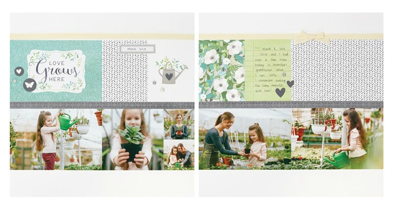Chelsea Gardens Scrapbook Layout 3
