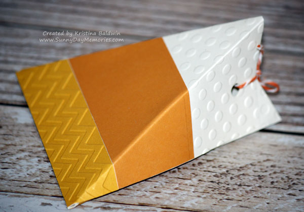 Side View Candy Corn Box