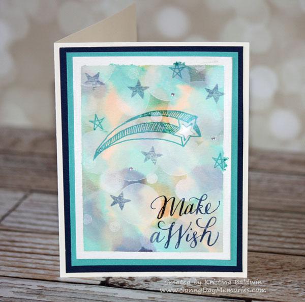 Bokeh Make a Wish Card