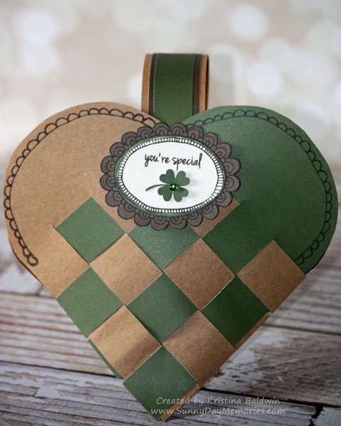 Choose Happy Woven St. Patrick's Day Heart