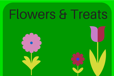 Blog graphic - flowers and treats