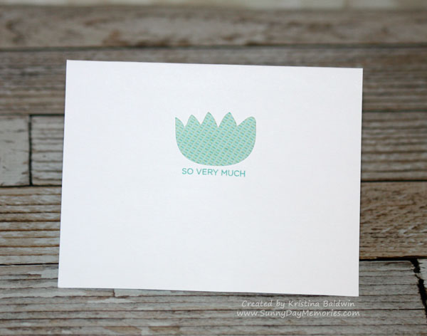 Inside Artfully Sent Pocket Thank You Card