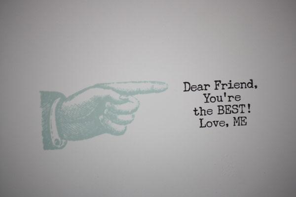 Inside Little Message Typed Note Card