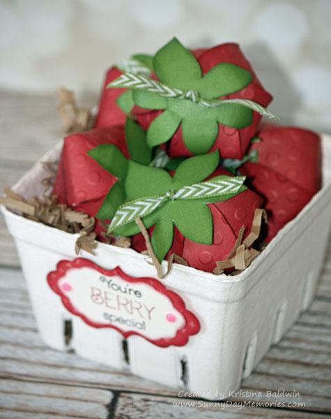Basket of Cricut Artiste Strawberries