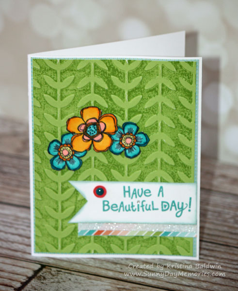 Happy Birds Embossed Card