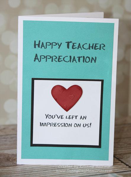 Thumbprint Teacher Appreciation Card