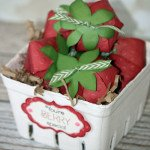 Basket of Cricut Artiste Strawberries