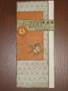 It's a zoo - card with monkey