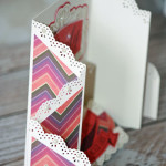 Side View Sangria Trifold Card
