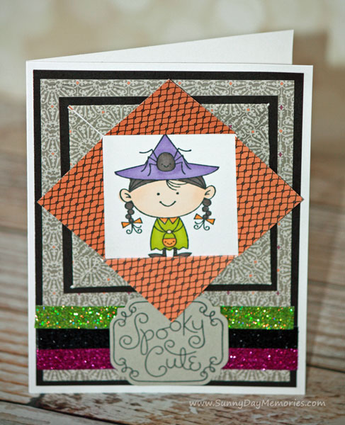 Spooky Cute Witch Card