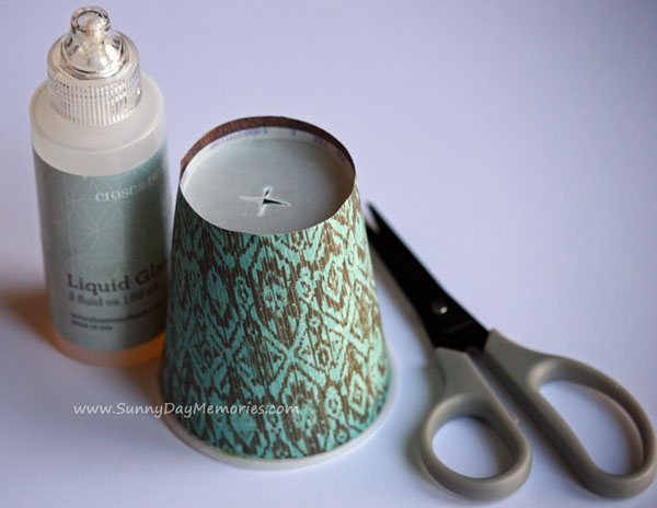 Glue Dixie Cup Covers