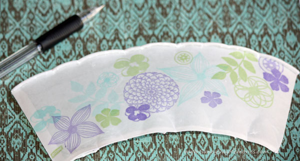 Trace Dixie Cup Template