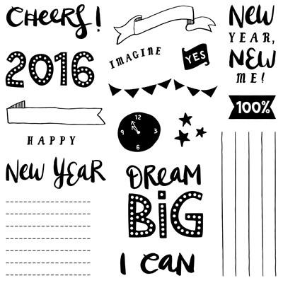 November 2015 Cheers 2016 Stamp Set