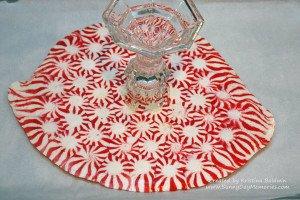 Bottom of Peppermint Platter