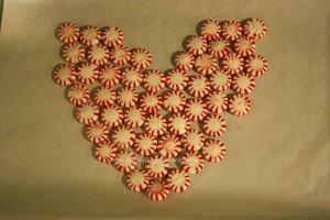 Heart Shape Peppermint Platter