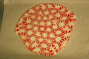 Top View Melted Peppermint Platter
