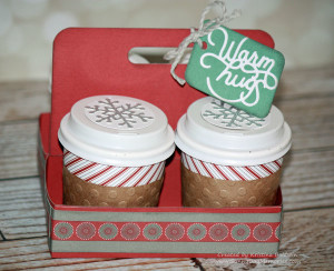 Mini Holiday Coffee Cup Carrier