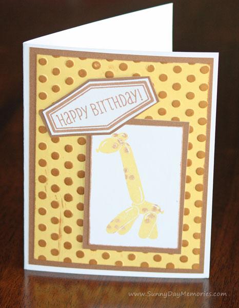 Giraffe Balloon Animals Card