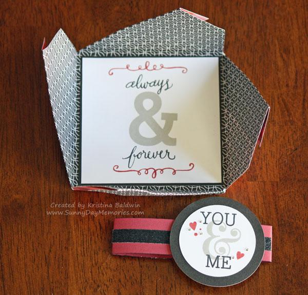 Open You & Me Pinwheel Card