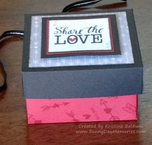 Side View Share the Love Valentine's Box