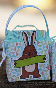Closeup Spring Critter Easter Basket