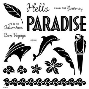 Hello Paradise Stamp Set