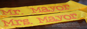 Dr. Seuss Mr. and Mrs. Mayor Sashes
