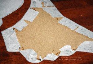 Glue Fabric to Horton Ears