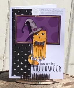 Purrfect Halloween Card