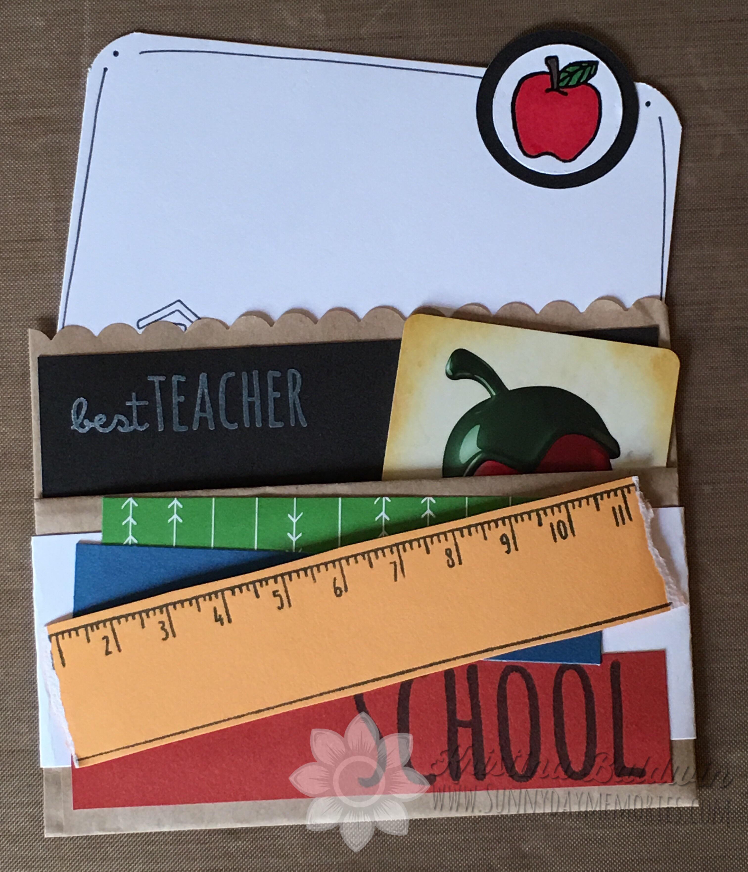Teacher Gift Card Holder