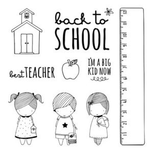 School Kids Stamp Set