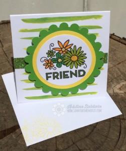 Green Create Kindness Friend Card