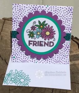 Purple Create Kindness Friend Card