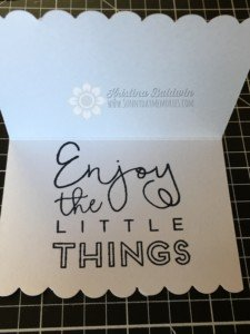 Stamped inside of Create Kindness Card