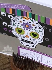 Closeup Sugar Skull Card