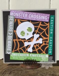 Monster Crossing Halloween Card