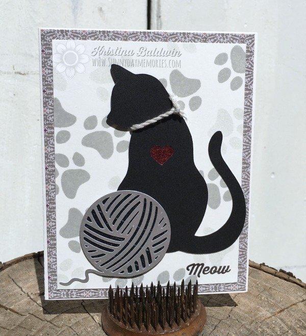 Cricut Artistry Cat Card