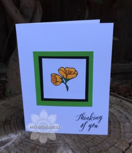 Thinking of You Thoughtful Flowers Card