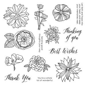 Thoughtful Flowers CTMH Dec Stamp of the Month