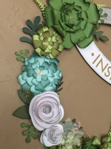 Closeup of Welcome Home Wreath