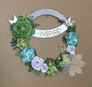 Angled Welcome Home Wreath