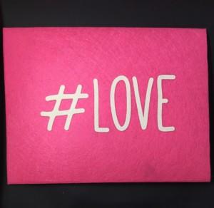 Backside of Pink Felt Envelope